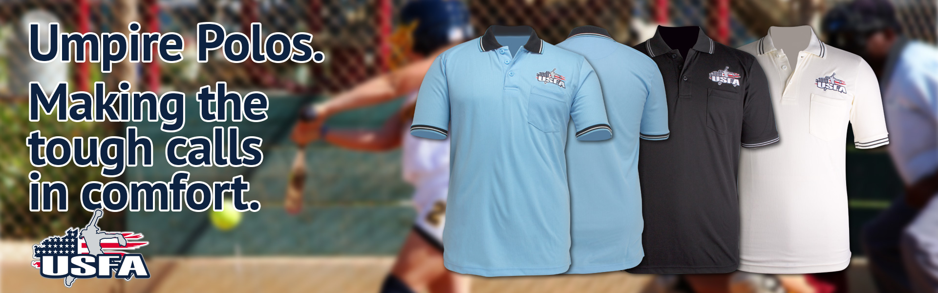 USFA Official Umpire Polo Shirts at Success Promotions