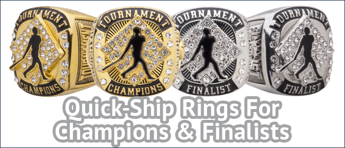 USFA Tournament Champion and Finalist Rings at Success Promotions