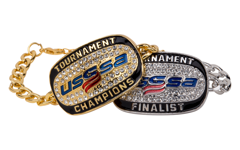 Buy USSSA 2017 Champion and Finalist Bracelets in bulk and save with Success Promotions!