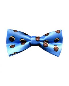 Face Pattern Bow Tie