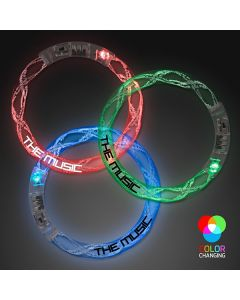 Rainbow Bangle Flashing Bracelets