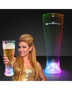 Flashing Multicolor Tall Pilsner Glass