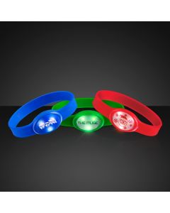 Custom Imprintable Flashing Wristbands