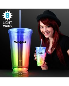 Deluxe Multicolor LED Double Wall Tumbler Cup