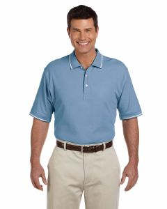 Pima Pique Short-Sleeve Tipped Polo