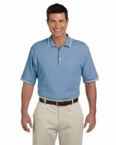 Pima Pique Short-Sleeve Tipped Polo