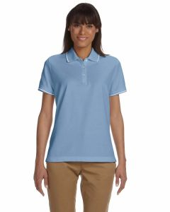 Ladies Pima Pique Short-Sleeve Tipped Polo