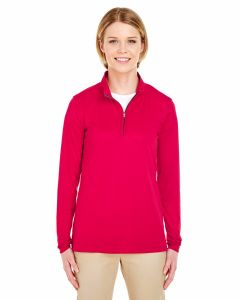 Ladies Cool & Dry Sport Performance Interlock Quarter-Zip Pullover