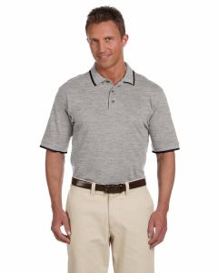 Short-Sleeve Pique Polo with Tipping