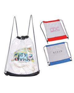 Clear Drawstring Bag