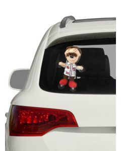Plush Window Cling Mascot with Imprinted Jersey