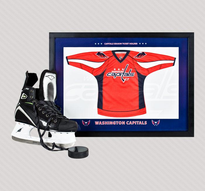 Washington Capitals Hockey Team Framed Jersey